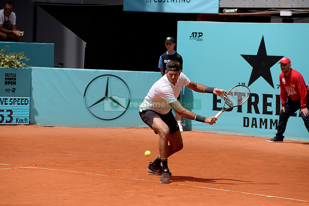 May 6, 2019 - Madrid, Spain - Successful start for  Juan Martin Del Potro (ARG) Kei Nishikori (JPN) in doubles in his match against Fognini (ITA)  and Robert Lindstedt (SWE) during day three of the Mutua Madrid Open at La Caja Magica in Madrid on 6th May, 2019. (Credit Image: © Juan Carlos Lucas/NurPhoto via ZUMA Press)