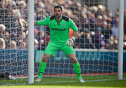 LONDON, ENGLAND - Saturday, February 21, 2015: Crystal Palace's goalkeeper Julian Speroni in action against Arsenal during the Premier League match at Selhurst Park. (Pic by David Rawcliffe/Propaganda)