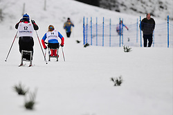 IURKOVSKA Olena, UKR, KONOVALOVA Svetlana, RUS at the 2014 IPC Nordic Skiing World Cup Finals - Long Distance