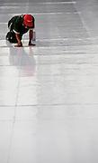 Belo Horizonte_MG, Brasil...Evento do 6o Minas Trend Preview em Belo Horizonte, Minas Gerais. Na foto, montagem da passarela...6o Minas Trend Preview in Belo Horizonte, Minas Gerais. In this photo, a man is doing the catwalk...Foto: BRUNO MAGALHAES / NITRO.