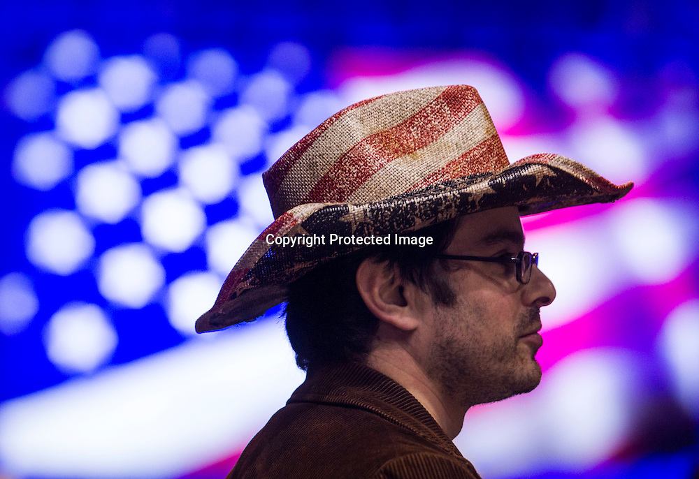 A supporter in a rally for democratic presidential candidate Sen. Bernie Sanders, I-Vt., Monday, Aug. 10, 2015, at the Los Angeles Memorial Sports Arena in Los Angeles. (AP Photo/Ringo H.W. Chiu)