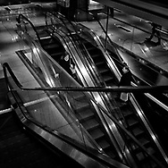 A Moment on the escalator at the Time Warner Center, New York City.
