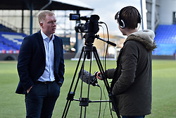February 11, 2019 - Oldham, England, United Kingdom - Paul Scholes is interviewed at his first press conference after taking over as Oldham Athletic manager at Boundary Park, Oldham on Monday 11th February 2019. (Credit Image: © Mi News/NurPhoto via ZUMA Press)