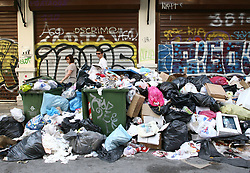 June 26, 2017 - Thessaloniki, Greece - Piles of garbage in Thessaloniki as cleaning workers  are on  strike in Greece, June 26, 2017  (Credit Image: © Grigoris Siamidis/NurPhoto via ZUMA Press)