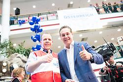 26.04.2019, Lugnercity, Wien, AUT, FPÖ, Wahlkampfauftakt zur EU-Wahl. im Bild EU-Spitzenkandidat Harald Vilimsky (FPÖ) und Vizekanzler Heinz-Christian Strache (FPÖ) // Topcanidate Harald Vilimsky and Austrian Vice Chancellor Heinz-Christian Strache during campaign opening of the Austrian Freedom Party due to EU elections in Vienna, Austria on 2019/04/26. EXPA Pictures © 2019 PhotoCredit: EXPA/ Michael Gruber