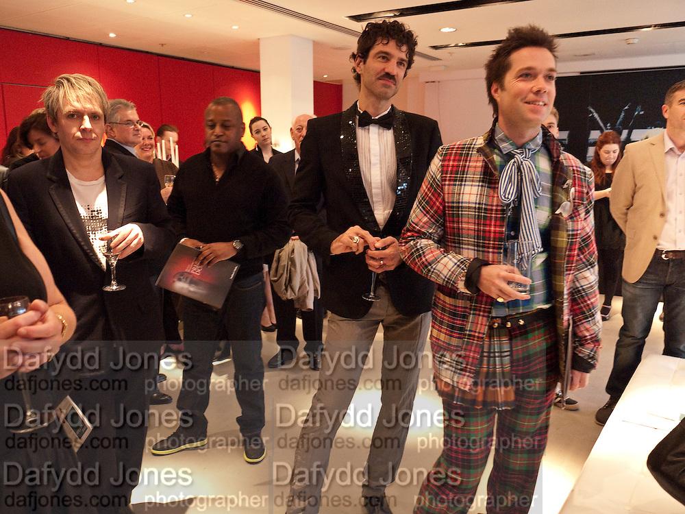 NICK RHODES; JORN WEISBRODT; RUFUS WAINWRIGHT, Prima Donna opening night. Sadler's Wells Theatre, Rosebery Avenue, London EC1, Premiere of Rufus Wainwright's opera. 13 April 2010