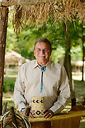 Photo of Cherokee Nation Deputy Chief Joe Crittenden for Oklahoma Living Magazine taken at Cherokee National Heritage Museum.