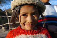 A young Andean girl from the town of Viñak in Lima, Peru.