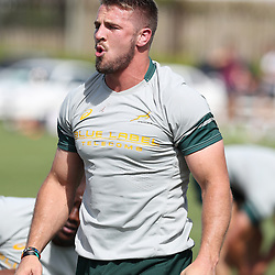 DURBAN, SOUTH AFRICA, 4 October, 2016 - Rugby Championship,Jaco Kriel during the South African (Springbok) field training session at Kings Park in Durban, South Africa. (Photo by Steve Haag)
