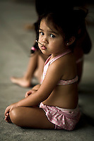 Little girl at hula show in Hilo, HI.  Copyright 2008 Reid McNally.