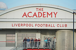 KIRKBY, ENGLAND - Tuesday, November 16, 2010: Academy staff and players look on as the Liverpool Reserve team take on Blackpool during the FA Premiership Reserves League (Northern Division) match at the Kirkby Academy. (Pic by: David Rawcliffe/Propaganda)