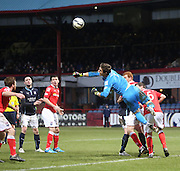 Ross County keeper punches clear - Dundee v Ross County, SPFL Premiership at Dens Park<br /> <br />  - &copy; David Young - www.davidyoungphoto.co.uk - email: davidyoungphoto@gmail.com