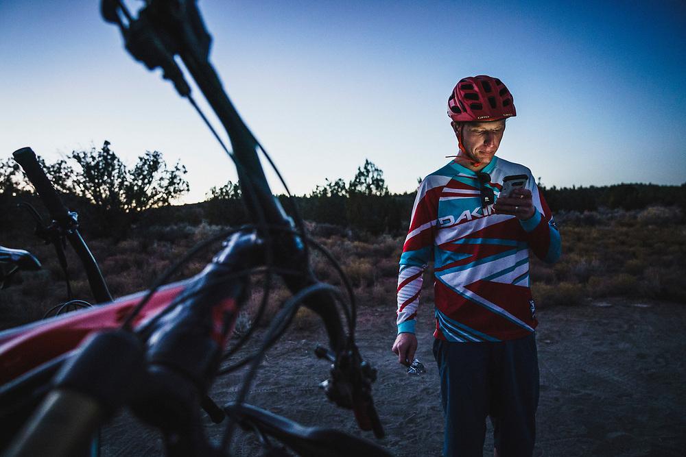 Social Media break for Jeremy Hottinger after rolling the Wire Mesa Trail, Virgin, Utah.