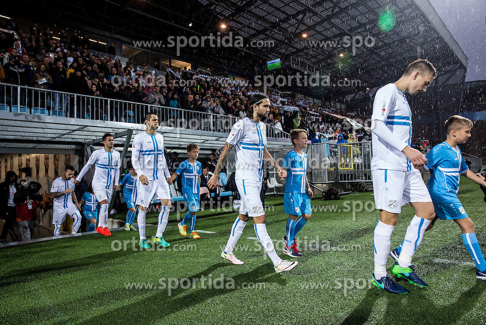 Players of Rijeka during football match between HNK Rijeka and HNK Hajduk Split in Round #15 of 1st HNL League 2016/17, on November 5, 2016 in Rujevica stadium, Rijeka, Croatia. Photo by Vid Ponikvar / Sportida