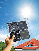 Polycrystalline and monocrystalline Solar Cells with Roof