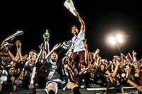 Sacramento Republic Football Club' players celebrate in the crowd their 3-2 win over the LA Galaxy II in the second round of the USL Pro playoff at Bonney Field, Saturday September 20, 2014.<br /> Brian Baer/Special to the Bee