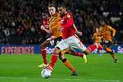 Lewis Grabban of Nottingham Forest during the EFL Sky Bet Championship match between Hull City and Nottingham Forest at the KCOM Stadium, Kingston upon Hull, England on 26 December 2019.