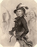 Paul Jean Francois Nicolas, Comte de Barras (1755-1829) French revolutionary. Especially cruel and ruthless. One of the five members of the Directoire (1795). Exiled after Napoleon's coup of 18 Brumaire (9 November 1799). Engraving.