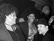 "Sharon Bryant, Cindy Mizelle, Joe Claussell and Louie Vega in the booth at the ""Louie Vega Starring...XXVIII"" album release during Roots at Cielo in New York City, New York on February 24, 2016."