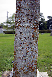 31 August 2017:   Veterans graves in Cheneys Grove Township Cemetery in eastern McLean County.<br /> <br /> George W Cornwell  Died Nov 3 1872  Aged 36 YRS...