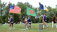 "SHANNAH08P<br /> Members of the Philadelphia-Continental Chapter Sons of the American Revolution Color Guard exit after a dedication ceremony honoring Hannah Till Saturday October 3, 2015 at Eden Cemetery in Collingdale, Pennsylvania. Hannah Till, a free black woman and unsung hero of the Revolutionary War who worked for Gens. George Washington and Lafayette is being honored as a ""Patriot"" by the Daughters of the American Revolution with a special ceremony and headstone dedication at Eden Cemetery, a historically-black cemetery in Collingdale. (William Thomas Cain/For The Inquirer)"