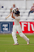 Scott Borthwick (Durham County Cricket Club) in action during the LV County Championship Div 1 match between Durham County Cricket Club and Warwickshire County Cricket Club at the Emirates Durham ICG Ground, Chester-le-Street, United Kingdom on 12 July 2015. Photo by George Ledger.