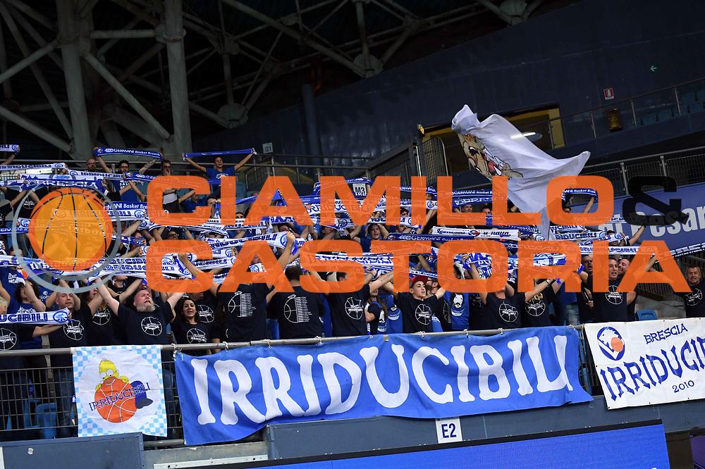 tifosi brescia <br /> VL Pesaro - Germani Leonessa Basket Brescia<br /> Lega Basket Serie A 2017/2018<br /> Pesaro, 01/10/2017<br /> Foto M.Ceretti / Ciamillo - Castoria