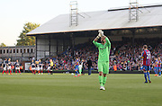 Julian Speroni applauds the Dundee traveling support - Crystal Palace v Dundee - Julian Speroni testimonial match at Selhurst Park<br /> <br />  - © David Young - www.davidyoungphoto.co.uk - email: davidyoungphoto@gmail.com