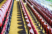Stand seats during the EFL Sky Bet League 1 match between Northampton Town and Shrewsbury Town at Sixfields Stadium, Northampton, England on 20 March 2018. Picture by Dennis Goodwin.