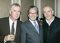 Paul Conroy, Rob Dickins and Peter Gabriel