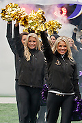 The Baltimore Ravens cheerleaders take the field before the start of the teams Super Bowl XLVII Celebration at M&T Bank Stadium on Tuesday, February 5, 2013 in Baltimore, MD.