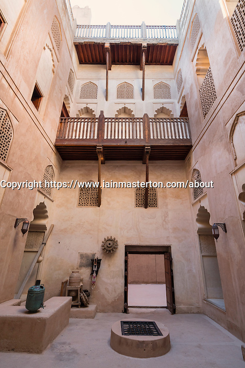 Interior of courtyard at Jabrin Fort in Oman
