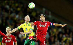 Gary O'Neil of Bristol City challenges Steven Naismith of Norwich City to a header - Mandatory by-line: Robbie Stephenson/JMP - 16/08/2016 - FOOTBALL - Carrow Road - Norwich, England - Norwich City v Bristol City - Sky Bet Championship