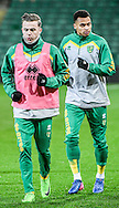 James Maddison and Josh Murphy of Norwich City U23 before the match against Dinamo Zagreb U23 in the Premier League International Cup Quarter-Final match at Carrow Road, Norwich<br /> Picture by Matthew Usher/Focus Images Ltd +44 7902 242054<br /> 27/02/2017