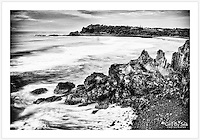 Clifftop view towards Boulder Beach near Ballina on the New South Wales north coast [Boulder Beach, NSW]<br />