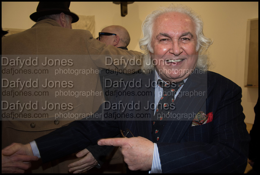 TONY SHAFRAZI, Private view for A Strong Sweet Smell of Incense<br /> A Portrait of Robert Fraser, Curated by Brian Clarke. Pace Gallery. 6 Burlington Gardens. London. 5 February 2015.