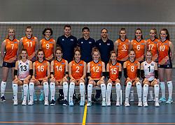 24-12-2019 NED: Photoshoot selection of Orange Youth Girls, Arnhem<br /> Orange Youth Girls 2019 - 2020 / Sanne Konijnenberg #2, Nog de Vos #3, Marije ten Brinke #6, Sanne Wagener #7, Silke Bos #8, Dagmar Mourits #9, Joanne Brilhuis #10, Emily Silderhuis #11, Tess Leemreize #12, Pippa Molenaar #13, Nicole van de Vosse #14, Marit Zander #15, Marlijn Stelwagen #16, Sabine de Groot #17, Eelco Beijl