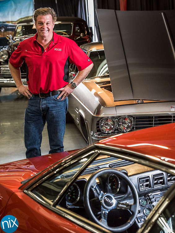 Car designer and reality TV  personality Chip Foose at his display at the Charlotte AutoFair at Charlotte Motor Speedway Thursday morning.