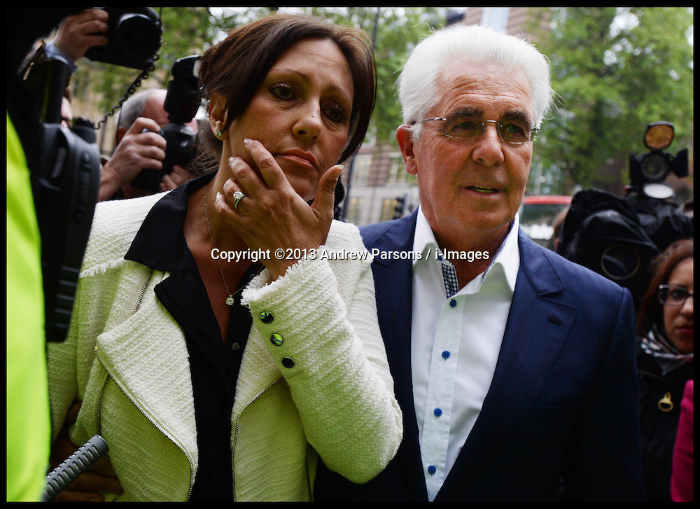 PR guru Max Clifford and his Partner Jo Westwood arrive at Westminster Magistrates' Court, London, charged with 11 indecent assaults allegedly committed between 1966 and 1985, .Tuesday, 28th May 2013.Picture by Andrew Parsons / i-Images