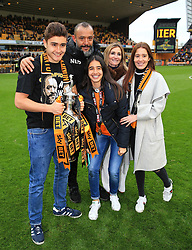 Free to use courtesy of Sky Bet - of Wolverhampton Wanderers celebrate after lifting the Sky Bet Championship 2017/18 league trophy - Mandatory by-line: Matt McNulty/JMP - 28/04/2018 - FOOTBALL - Molineux - Wolverhampton, England - Wolverhampton Wanderers v Sheffield Wednesday - Sky Bet Championship