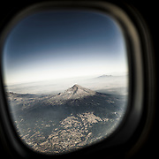 Popocatépetl from the air.