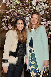 Left to right, NURA KHAN and LUCY DELACHEROIS-DAY at the launch of Mrs Alice in Her Palace - a fashion retail website, held at Fortnum & Mason, Piccadilly, London on 27th March 2014.