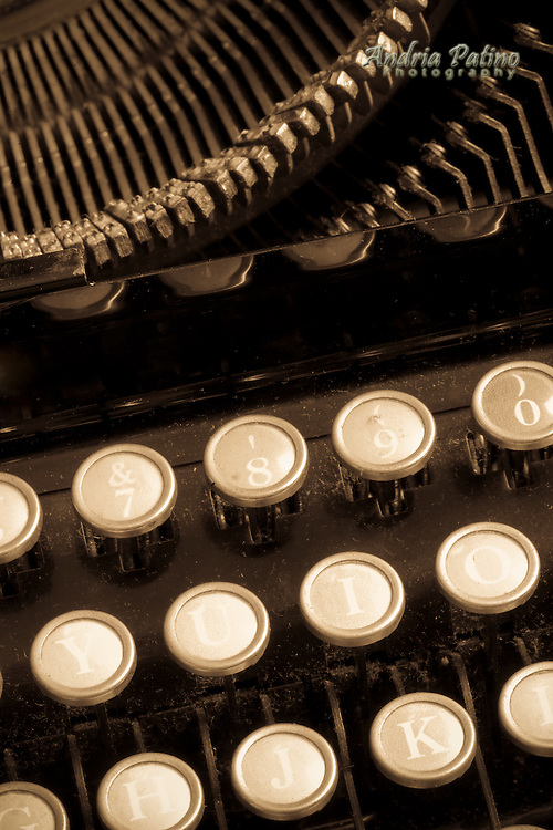 Close-up of Vintage Typewriter