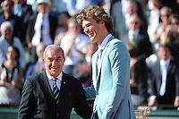 Gustavo KUERTEN / Jean GACHASSIN  - 07.06.2015 - Jour 15 - Finale  - Roland Garros 2015<br /> Photo : Nolwenn Le Gouic / Icon Sport