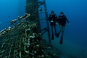 Israeli Navy divers, in the Navy harbour, Eilat, Israel