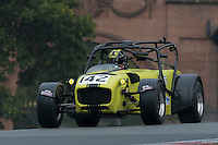 #142 Richard Carter Caterham R300 2000 during the CSCC Gold Arts Magnificent Sevens at Oulton Park, Little Budworth, Cheshire, United Kingdom. October 15 2016. World Copyright Peter Taylor/PSP. <br /> Copy of publication required for printed pictures.  Every used picture is fee-liable. http://archive.petertaylor-photographic.co.uk