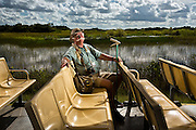 SOUTH FLORIDA<br /> <br /> Portrait of Eric Raits, a Python Patrol Trainee who uses his snake catching skills at his job leading tours in the Northern Region of Everglades National Park, Florida.