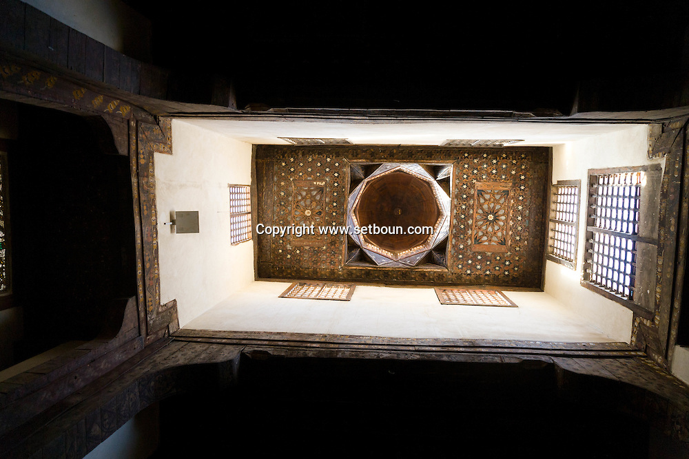 Egypt . Cairo : BAYT AL SIHAYMI, traditional houses in  al Gamaliyyah  area.  Islamic Cairo . street life , market  Cairo   NM339 +