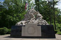 Image shows general view of an Iwo Jima Memorial outside Quantico Marine Corps Base as troops from 77 Brigade exercise with the United States Marine Corps and Army at Quantico Marine Corps Base, Quantico Virginia. <br /> <br /> 18/05/2015<br /> <br /> Elements of 77X are working with American troops on Combined Unit Exercise (CUX) 15.2 - a 3 week exercise meant to test Marine Corps Information Operations Centre (MCIOC) personnel in a variety of Information<br /> Operation techniques. <br /> <br /> <br /> Credit should read: Cpl Mark Larner RY