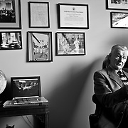 Former National Security Advisor to President Jimmy Carter, Zbigniew Brzezinski, at his office at the Center for Strategic and International Studies.